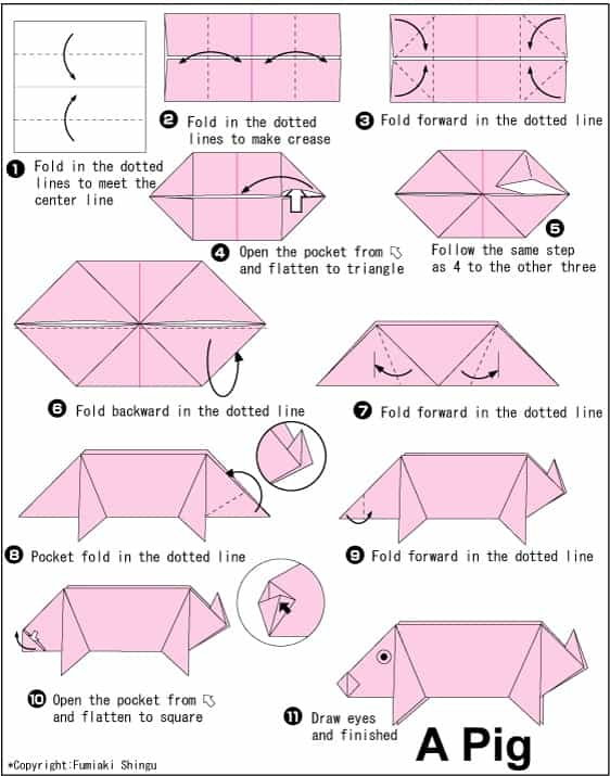 stem little explorers how to make origami pig step by