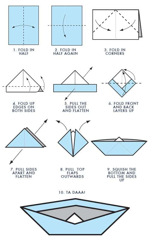how to make an origami boat step by step guide stem