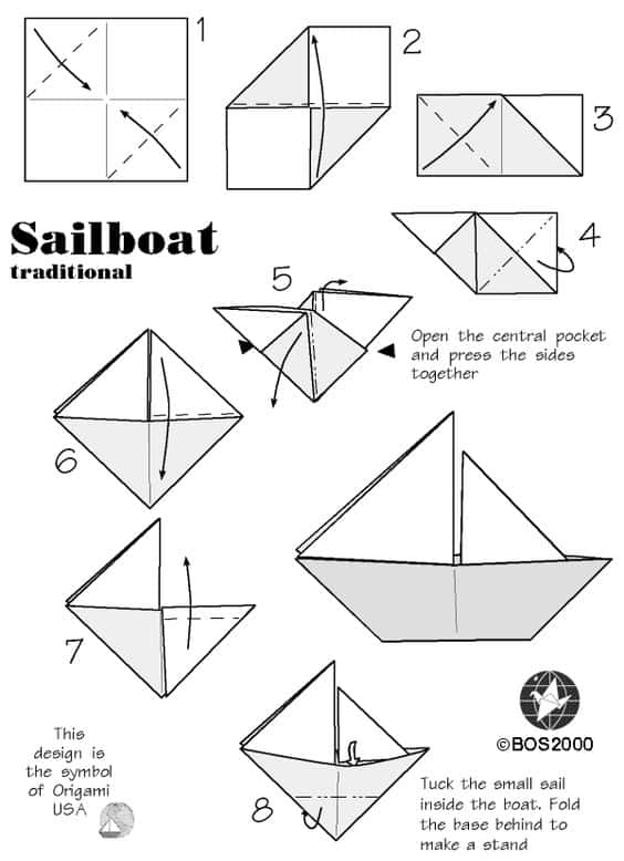 how to make an origami boat step by step guide stem little explorers. Black Bedroom Furniture Sets. Home Design Ideas