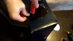 Kako napraviti projektor - Rezanje rupe