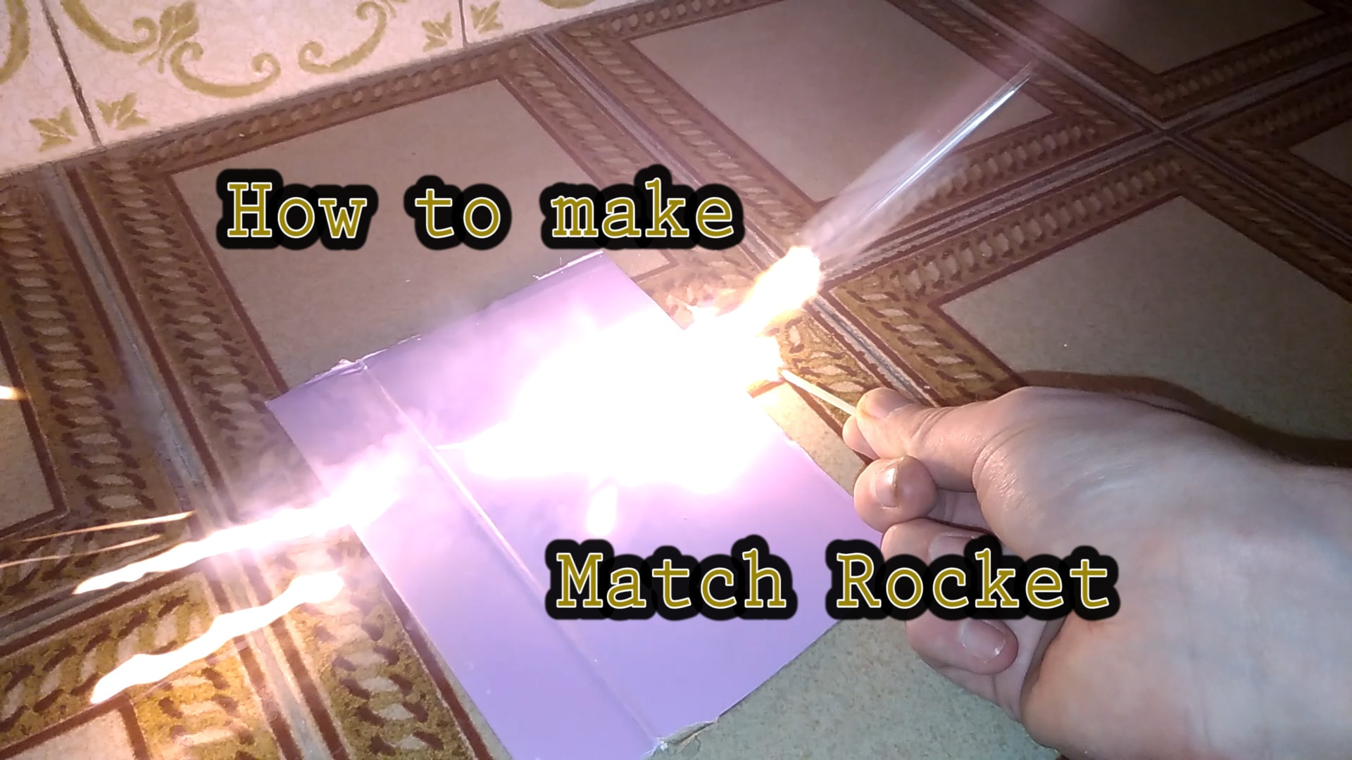 how to make match head rocket cover picture stem little