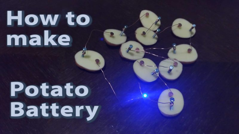 homemade potato battery
