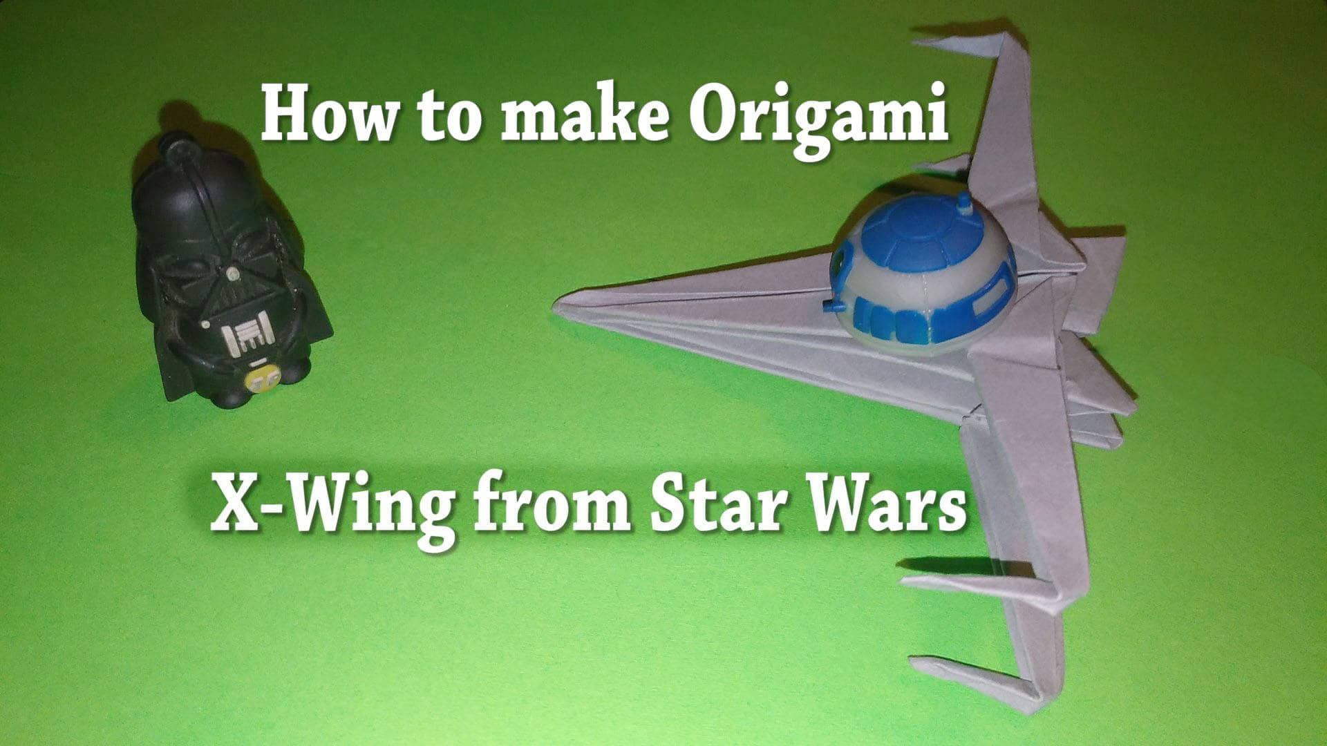 How to make origami x wing from the star wars stem little explorers jeuxipadfo Images