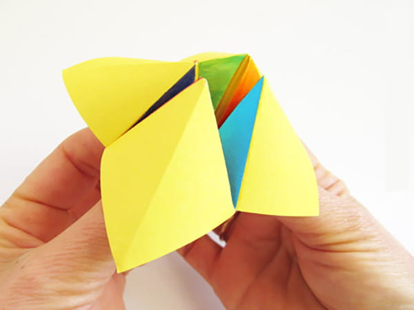 The Craft box | Fortune teller paper, Origami fortune teller, Origami easy | 450x600